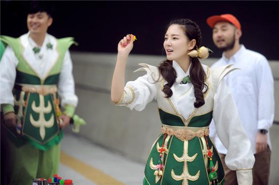 张雨绮首战《跑男》  气场女王秒变害羞小女生