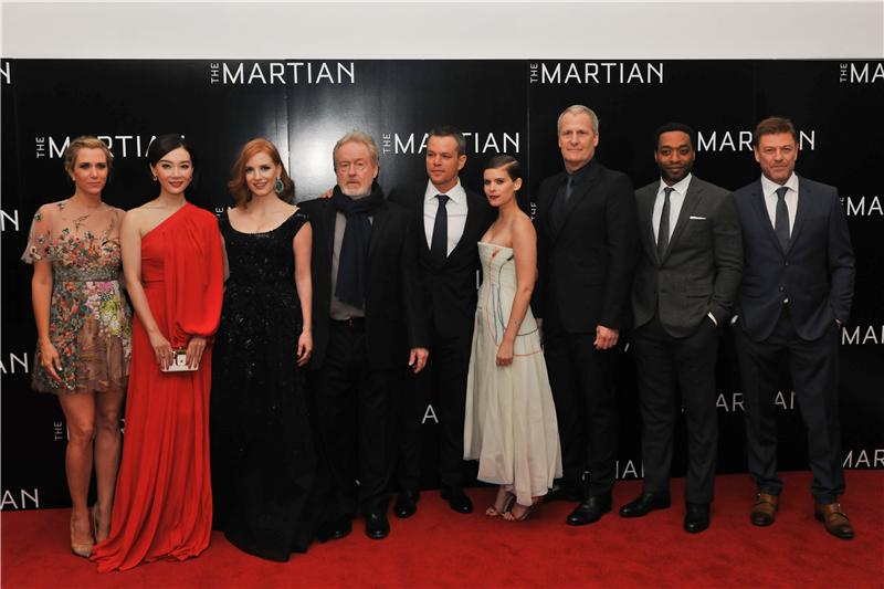 《火星救援》伦敦首映 陈数马特达蒙热聊